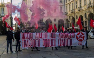 Nuove tariffe Gtt protesta